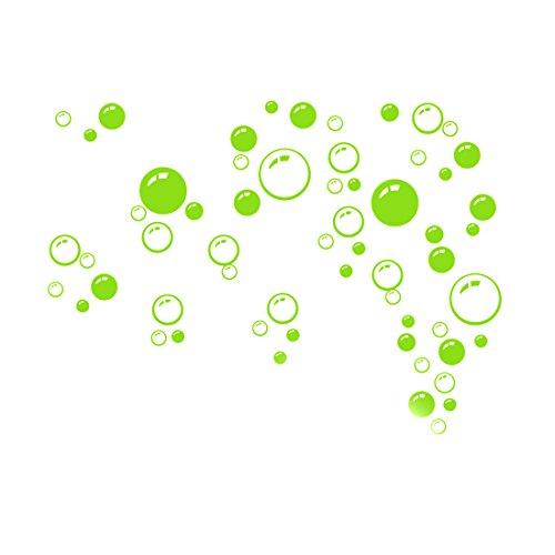 joylivecy 21* 42cm Verde Cuarto de baño ventana ducha Burbujas Pared Art Vinilo Decoración Adhesivo Kid