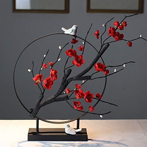 Xianw Flor De Ciruelo Decoraciones Artísticas, Decoración del Hogar DIY Decoración Artística, Mesa De Té Bogu Decoración del Dormitorio,B