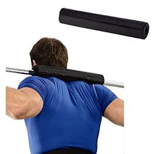 Enjoydeal Barbell Pad - Supports Squat Bar Weight Lifting Pull Up Gripper for Neck Shoulder Protective Pad - Black