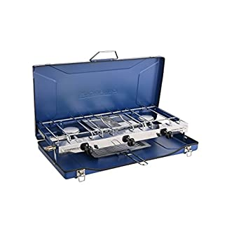 Campingaz Chef Folding Double Burner Stove and Grill, compact gas cooker for camping or festivals. 11