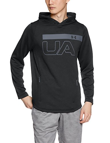 Under Armour Tech Terry Po Graphic Hoodie Sudadera, Hombre, Negro, XL