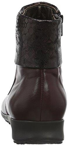 Mephisto Damen Fiducia Silk 7874/Queen 14774 Kurzschaft Stiefel Rot (Chianti)