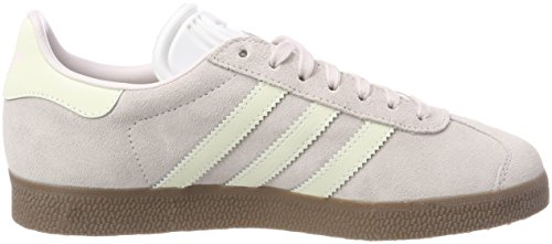 adidas Gazelle, Baskets Basses Femme Gris (Orchid Tint/footwear White/gum)