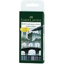 Faber-Castell 167104 - Tuschestift PITT artist pen brush -Shades of grey- 6er Packung