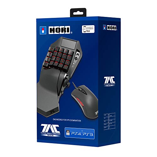 Hori Tactical Assault Commander TAC PRO (Type M2), Tastiera illuminata e mouse FPS per PS4/PS3/PC - Ufficiale Sony - PlayStation 4