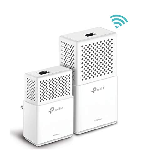 TP-Link TL-WPA7510 KIT - WiFi AV 1000 Mbps (PLC con Doble Banda y Adaptadores, Extensor, Repetidores de Red, Cobertura Internet, Línea Eléctrica, 2 Puertos, Smart TV, Ps4, Nintendo Switch)