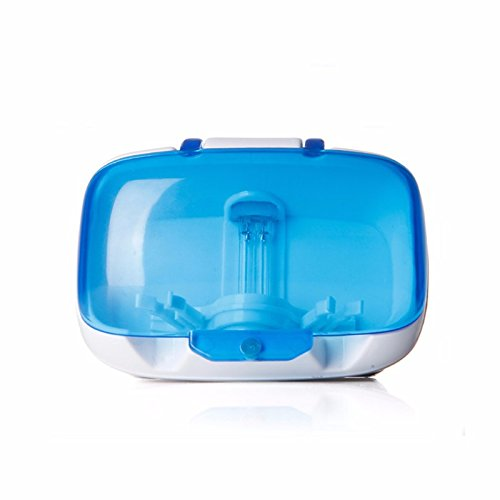 SNOWINSPRING UV Zahnbuerste Sanitizer Wand-Zahnbuerstenhalter Staender UV-Licht Antibakterielle UV-Desinfektion Zahnbuerste Rack - Familie Zahnbürste Sanitizer