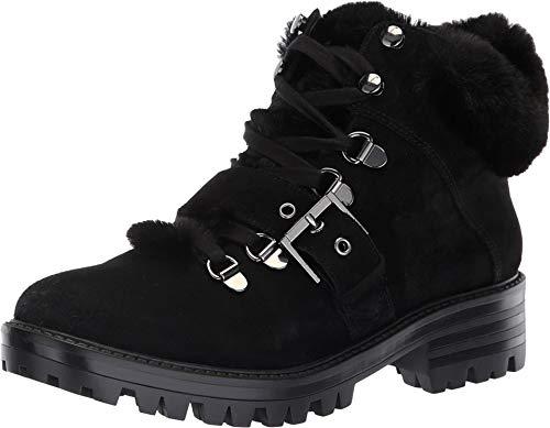 Kendall + Kylie Frauen Edison Geschlossener Zeh Leder Kaltes Wetter Stiefel Schwarz Groesse 6 US /37 EU - Cold Weather Combat Boots