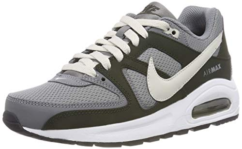 Nike Jungen Kinder Sneaker Air Max Command Flex Laufschuhe, Grau (Cool Grey/Lt Bone/Sequoia/White/Black 006), 38 EU - Nike 8 Größe Schuhe Kinder, Für