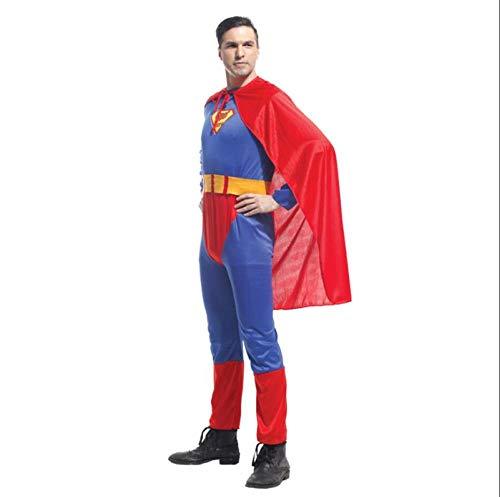 nd Batman Kostüm Inklusive Umhang GürtelupSuperman Rollenspielanzug - Für Halloween Weihnachtstag Familie Party Spiele,Men-OneSize ()