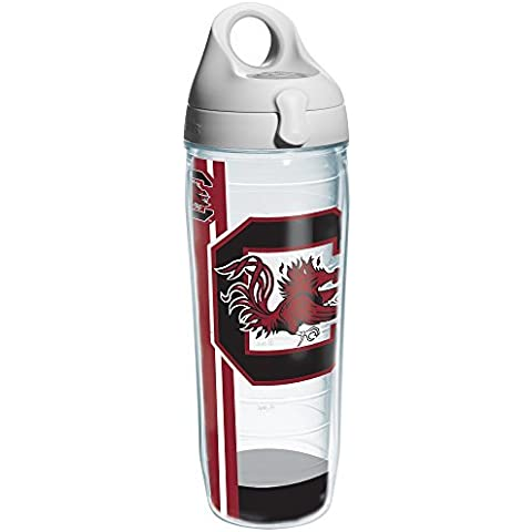 Tervis South California University Colossal Wrap Individual Water Bottle with Gray Lid, 24 oz, Clear by Tervis