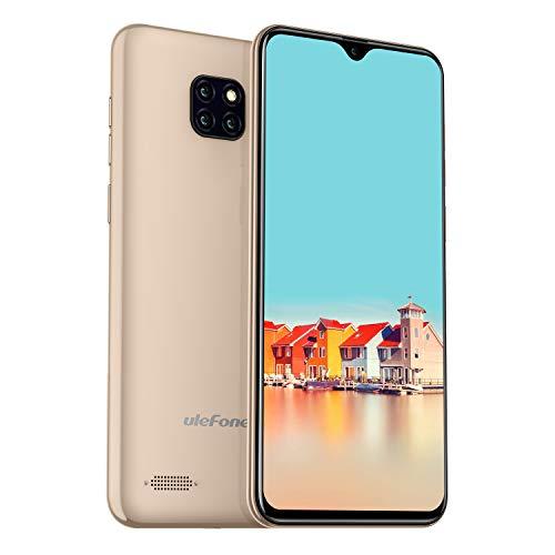Ulefone Note 7 (2019) Handy Ohne Vertrag [DREI Kameras, 15.5 cm (6,1 Zoll), 16 GB Speicher, 3500mAh Akku, Android 8.1 (Go), Dual SIM DREI Karte Slot, Global Version] Gold