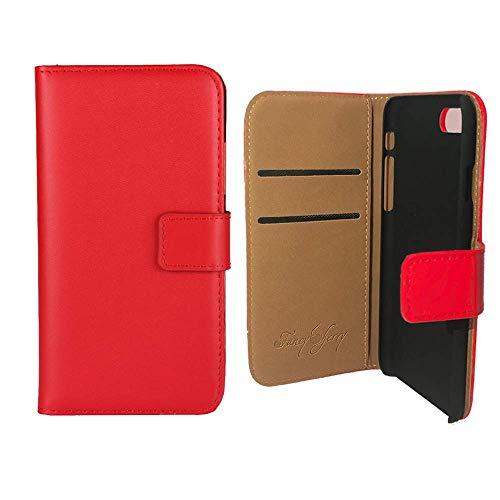Fancy Cherry® Luxus Leder Stand Genuine Leather-Effect Flip Folio Tasche Wallet Schutzhülle Case Cover für iPhone 5 / 5S (Ip5 Wallet)
