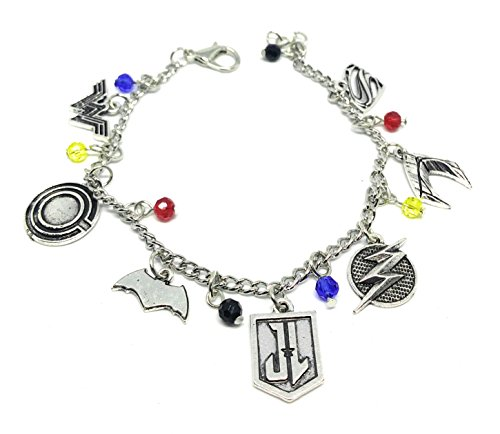 Limited EDITION** JUSTICE LEAGUE CHARM BARCELET** HIGH QUALITY* FREE GIFT BAG WITH ALL ORDERS (Black Widow Anzug)