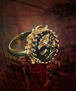 Fluch der Karibik Jack Sparrow Button Ring Replica (Fluch Der Halloween)