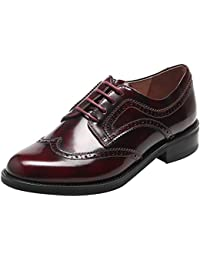 cbe84e5163ff SimpleC Damen Leder Flat Vintage Brogue Oxfords Schuhe Comfy Office Schuhe