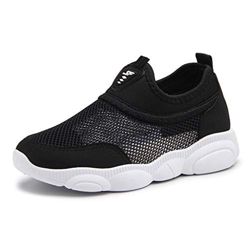 Dtuta Sneaker Kinderschuhe Kinder Jungen Und MäDchen Sportschuhe Atmungsaktive Schuhe Mesh-Schuhe Laufschuhe Elastische Wilde Bequeme Licht -