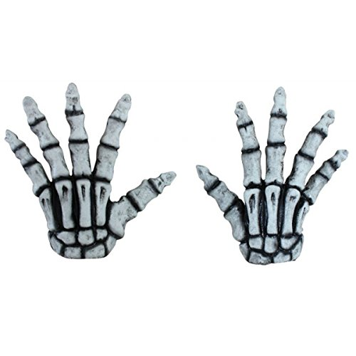 Generique - Halloween kurze Skelett-Handschuhe für Erwachsene