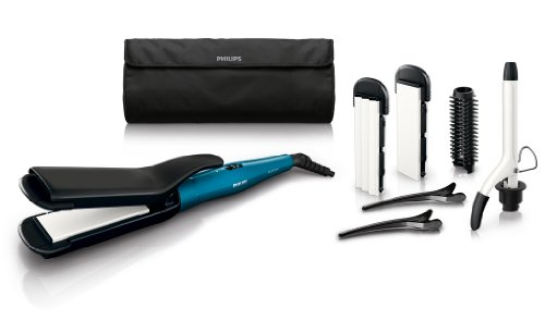 Philips Multi Styler-Set (6-in-1) HP8698/00, 20 Watt, weiß-türkis