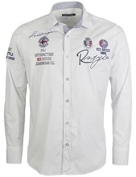 REDBRIDGE - Langarm Freizeithemd - weiß Grösse 5XL