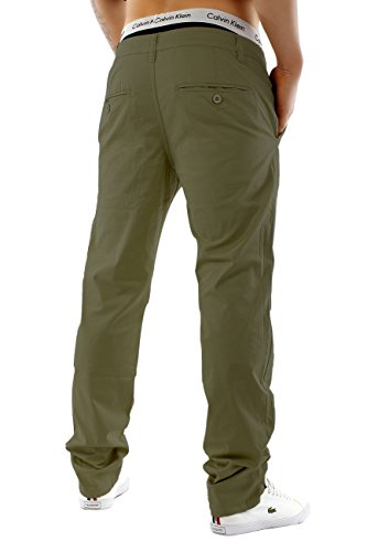 Uomo chinos | Taglio regolare fit · leggeri pantaloni estivi · Chino Jeans · misto cotone-spandex · Straight Leg · Ampia gamma di colori | H1245 in qualità di marca cachi