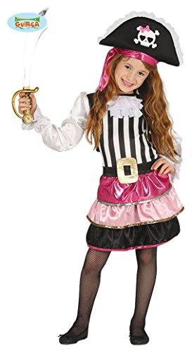 Guirca Piraten Kostüm für Mädchen Pink Rosa in Größe 98 -146, Größe:122/128