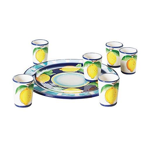 Excelsa servizio limoncello positano, ceramica, multicolore, 7 pezzi