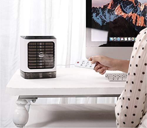 XXL Mini Tragbarer Luftkühler,unsichtbarer Griff, 3-in-1-Befeuchtung/Emollient/Kühlung, 3 Geschwindigkeiten, USB-Aufladung, 7 Farben LED-Leuchten