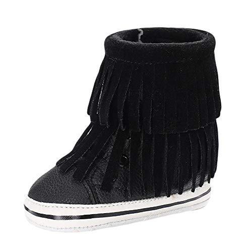 Hiver Chaussures Premiers Pas Bébé Fille Casual Bottes De Neige Berceau Chaussures Chaudes Plus Velours Tassel Enfant Chaussures Tout-Petits Binggong (0-2 Ans)