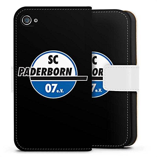 Apple iPhone X Silikon Hülle Case Schutzhülle SC Paderborn Fanartikel SCP07 Sideflip Tasche weiß