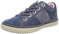 Lurchi Mädchen Shirin Slipper, Blau (Jeans), 33 EU