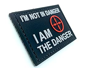 I Am The Danger Noir PVC Airsoft Velcro Patch