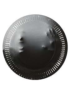 DH-Konzept Geister Pappteller Halloween Party-Deko 10 Stück grau 23cm Einheitsgröße