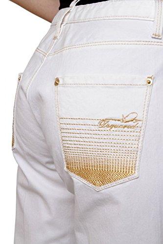 Dsquared² Jeans a Gamba Larga , donna Bianco