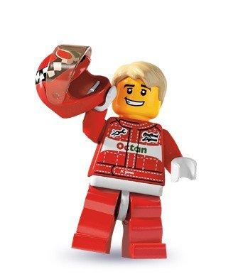 LEGO 8803 - Sammelfigur Rennfahrer - Serie 3 (Lego Rennfahrer Minifigur)