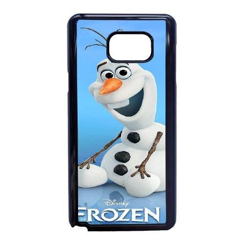 R3P37 Disney Gefrorene Zeichen Olaf N7N8EZ Samsung Galaxy Note 5 Handy-Fall Hülle schwarz WS4FCI9BE decken