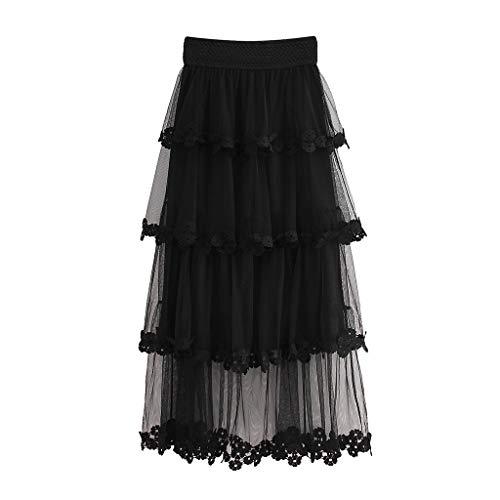 Proumy Vestidos&Faldas Damen Rock, Comprar más Con descuento en Proumy, Schwarz, Comprar más Con descuento en Proumy One Size (De Descuento Vestidos)