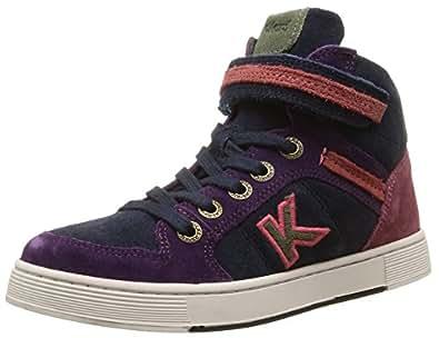 Kickers Plusk, Sneakers Hautes fille, Multicolore (Rose/Marine), 29 EU