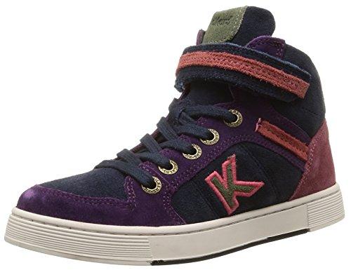 Kickers  Plusk,  Sneaker ragazza Rosa Rose (Rose/Marine) 34