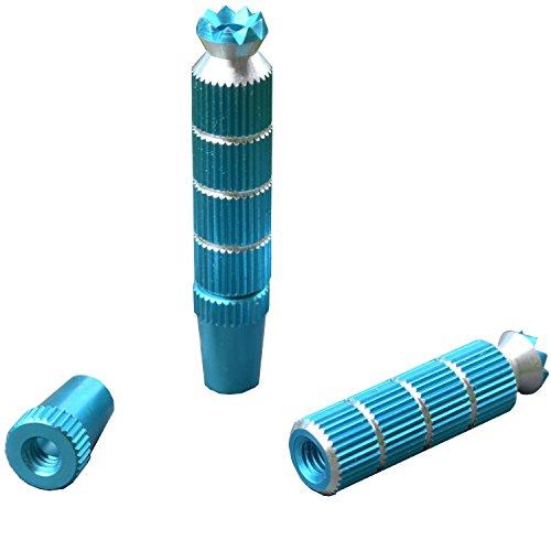 Steuerknüppel Aluminium M4 Gewinde Lang in Blau für Futaba oder Spektrum Fernsteuerung RC Modellbau Steuerung Alloy Anti-Rutsch-TX Steuerknüppel Zubehör Hobby Standmodellbau Teile Bausätze Neu