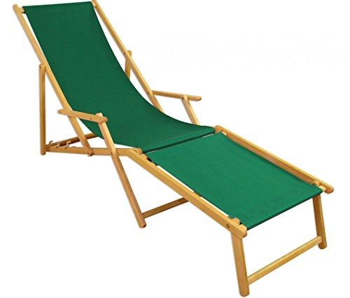 Sedia a sdraio, lettino da giardino verde piede sedia a sdraio da ...