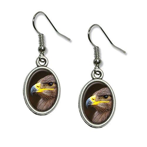 Golden Eagle Neuheit Dangling Drop oval Charm-Ohrringe