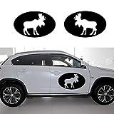 autocollant mural stickers muraux 3d 2pcs / set orignal ovale graphique autocollant...