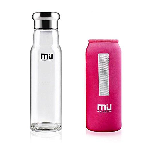 Miu Color - Botella Chevalier de agua de vidrio borosilicato de 550m