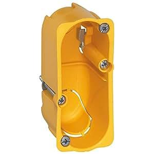 Legrand 080040 Boîte à encastrer Batibox 1 module, Jaune