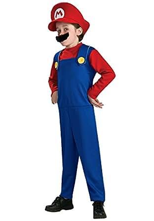 Childs Super Mario Costume Medium Age 5-7