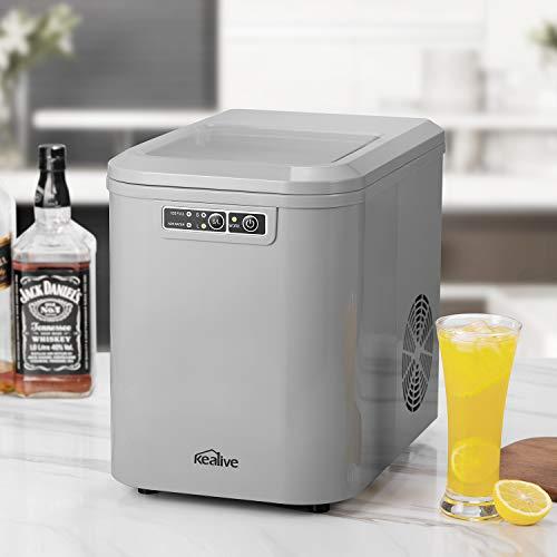 Machine à Glaçons, Machine à Glace Professionnel 500W avec Quick Ice tech, Faire de la Glace en seulement 6-10 Minutes, Réservoir d'eau 2,2 Litres, 12...