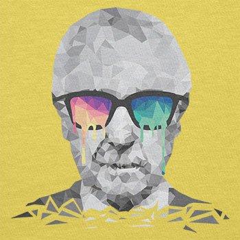 NERDO - Poly Psychedelic Albert - Herren T-Shirt Gelb