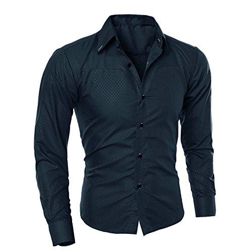 Camicia uomo landfox slim fit tinta unita cotone estiva camicetta stampata moda uomo camicie maniche lunghe casual manica lunga camicia uomo bianca camicia formale uomo casual classiche