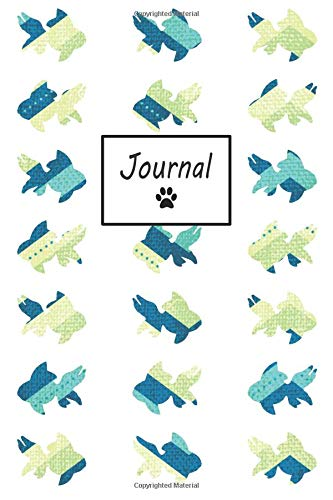 Journal: Goldfish Pattern - Blank Lined Journal (Composition Book, Notebook) por Petly Books